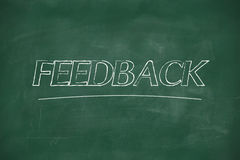 Feedback written on blackboard Royalty Free Stock Photo