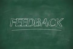 Feedback written on blackboard Royalty Free Stock Photo