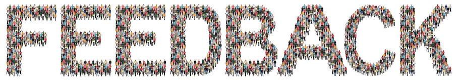 Feedbackkontakt-Kundendienst-Meinungsumfrage-Geschäftsbericht stockbild