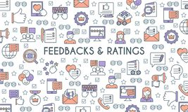 Feedbacks and ratings concept Royalty Free Stock Images