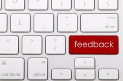 Feedbackwort auf Tastatur Lizenzfreies Stockbild