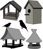 Feeder - bird house Stock Photos