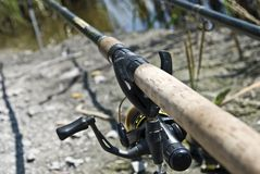 Feeder method fishing rods Royalty Free Stock Images