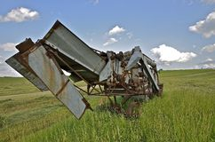 Feeder of an old threshing machine Royalty Free Stock Photo