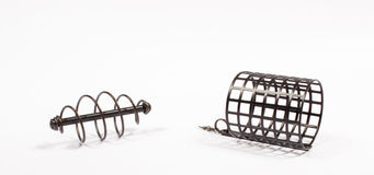 Feeders for fishing on a white background. Royalty Free Stock Photography