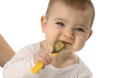 Feeding baby Stock Photography
