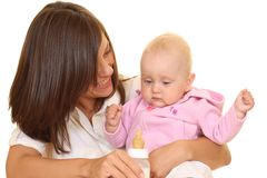 Feeding baby Royalty Free Stock Image