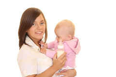 Feeding baby Royalty Free Stock Photo