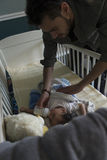 Feeding baby before naptime Royalty Free Stock Photos