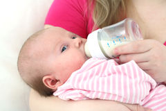 Feeding of the chest baby Royalty Free Stock Photos