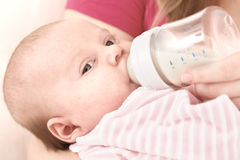 Feeding of the chest baby Stock Photography