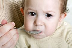 Feeding child Royalty Free Stock Photo