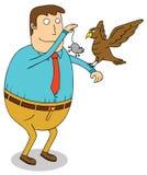 Feeding eagle Stock Images