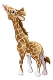 Feeding Giraffe Animal Cartoon Character Royalty Free Stock Photography