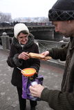 Feeding of the homeless Royalty Free Stock Image