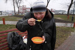 Feeding of the homeless Stock Photos