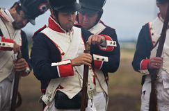 Feeding the musket Stock Photo