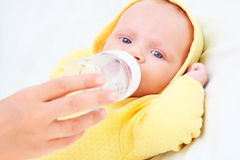 Feeding Of The Baby Stock Photos