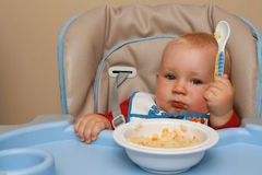 Feeding time for a baby Royalty Free Stock Images