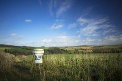 Feeding trough in Field. UK Royalty Free Stock Image