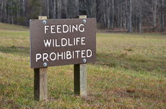 Feeding Wildlife Prohibited Stock Photo