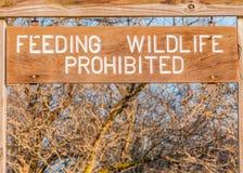 Feeding Wildlife Prohibited Stock Photo