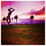 Feel the beat, keep dancing!. Treasure Island San Francisco California crazy dancing summer Stock Photography