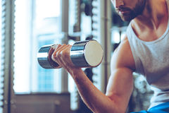 Feel the bicep. Royalty Free Stock Photos