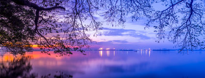 Feel the blue hour Stock Images