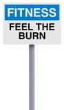 Feel the Burn. A conceptual road sign indicating Feel the Burn Royalty Free Stock Photo