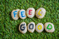 Free Feel Good Paint On Stone , On The Grass Stock Photo - 69229130