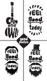 Feel good today. I can and I will. Posters Stock Image