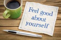 Feel good about yourself advice Stock Photos