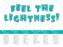 Feel the lightness 2 Royalty Free Stock Photo