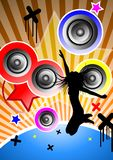 Feel the music. Illustration of music. Dance everywhere on the earth Stock Photography