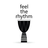 Feel the rhythm drum  illustration Royalty Free Stock Photos