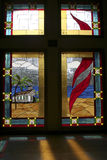 Feel the Spirit. Beautiful church window at a small church in Islamorada,Florida Royalty Free Stock Image