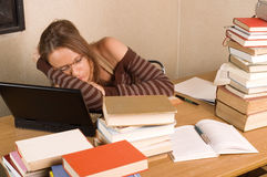 Feel tired Royalty Free Stock Images