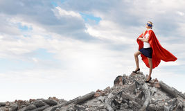 Feel yourself a hero! Stock Photography