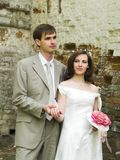 Feeling. Happy couple wathing different sides Royalty Free Stock Photography