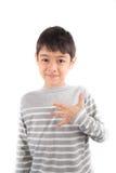 FEELING ASL Sign language communication. FEELING ASL Sign language on white background royalty free stock image