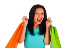 Feeling Awesome After Shopping Royalty Free Stock Photo