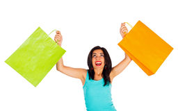 Feeling awesome after shopping Royalty Free Stock Photography