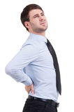 Feeling backache. Stock Photography