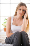 Feeling so badly. Stock Photography