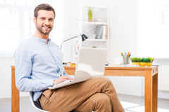 Feeling comfortable in my office. Stock Images
