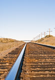 Feeling of distance portrayed by railroad track Stock Photo