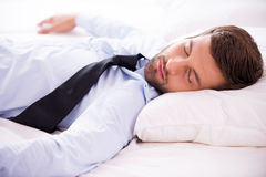 Feeling exhausted after day working. Stock Images