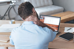 Feeling exhausted. Royalty Free Stock Photo