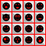 Feeling face icons on the button Stock Image